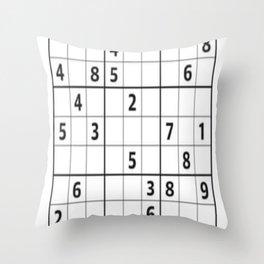 Sudoku Series: Hard Level - Mono Throw Pillow