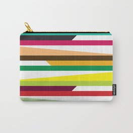 Geometric Pattern #73 (colorful stripes) Carry-All Pouch