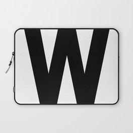 Letter W (Black & White) Laptop Sleeve