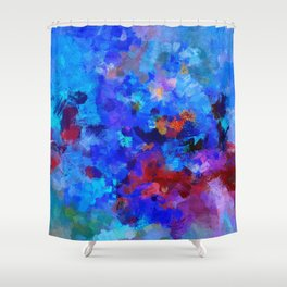 Abstract Seascape Painting Shower Curtain
