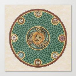 Celtic Knotwork Shield Canvas Print