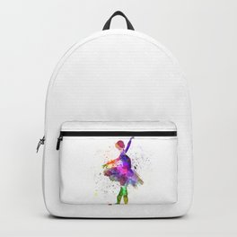 Young woman ballerina ballet dancer dancing with tutu Backpack