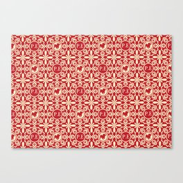 Pug Pattern 1 Canvas Print