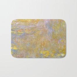 Sea-Roses (Yellow Nirwana) by Claude Monet Bath Mat