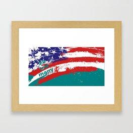 22 Too Many Flag Framed Art Print