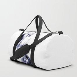 Indigo, black & white abstract I Duffle Bag