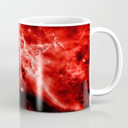 galAXY. Red Mystic Mountain Nebula Coffee Mug