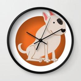 Bull Terrier Illustration Wall Clock
