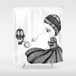 Ballooned Away Shower Curtain