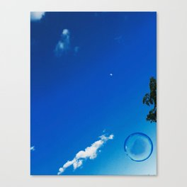 Soap Bubble and Moon Photography Canvas Print