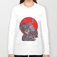 battlefield Long Sleeve T-shirts featuring Shogun by Mongolizer