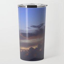 Island Sunset Clouds Travel Mug