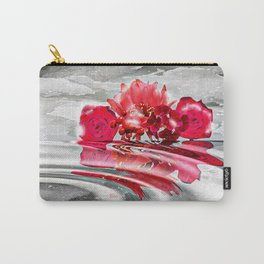 Snowy Flowers Reflections Carry-All Pouch