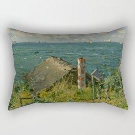 """Claude Monet """"La Cabane de Saint-Adresse"""" Rectangular Pillow"""