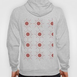 Light Brown Sun Pattern in Transparent Hoody