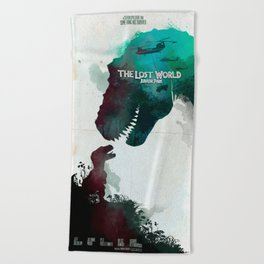 Inspired movie poster. The Lost World: Jurassic Park (1997) Beach Towel