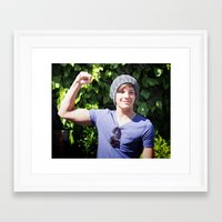 louis tomlinson Framed Art Prints featuring Louis Tomlinson by Syydnacks