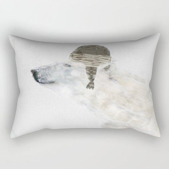 hello there polar bear Rectangular Pillow