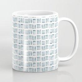 Blue and White Basketweave Coffee Mug