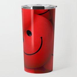 Red Smileys Travel Mug