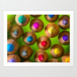 COLORED PENCILS 4 Art Print