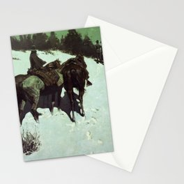 Reconnaissance in the Wild West Stationery Cards