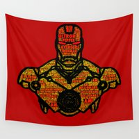 avenger Wall Tapestries featuring Iron Avenger by Rachcox