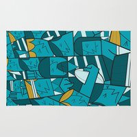 rugby Area & Throw Rugs featuring Rugby 1 by Ale Giorgini