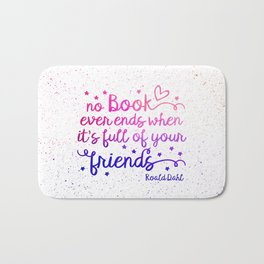 Book Friends Bath Mat