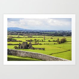 Travel to Ireland: Rock of Cashel Outlook Art Print