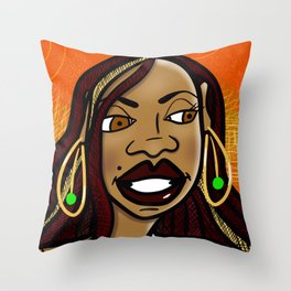 Skeptical Sista Throw Pillow