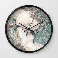 fault in our stars Wall Clocks featuring THE FAULT IN OUR STARS by Melissa Bather