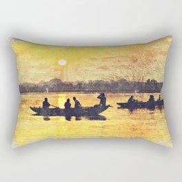 India Varinasi Ganges Rectangular Pillow