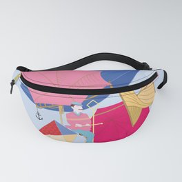 Flying Machine Air Balloon Skycycle Victorian Aircraft Fanny Pack