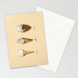 Ice Cream Cones Stationery Cards
