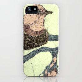 Bird Etching iPhone Case