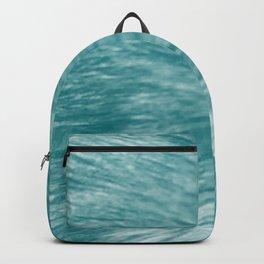 Light Blue Fur Backpack