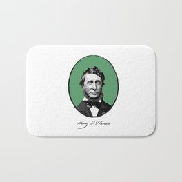 Authors - Henry David Thoreau Bath Mat