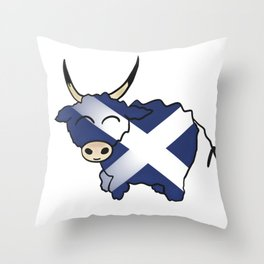Scottish Hairy Coo Throw Pillow