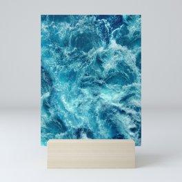 Ocean is shaking Mini Art Print