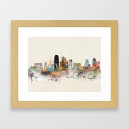 kansas city missouri Framed Art Print