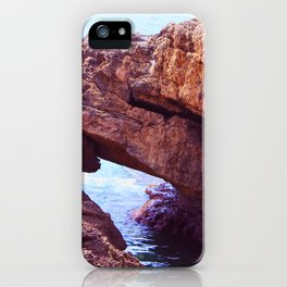 Cave on  mediterranean sea iPhone Case