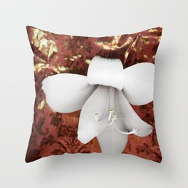 Innocent in copper red Throw Pillow