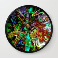 fairy tale Wall Clocks featuring Fairy Tale by Marketing Ideas 1001