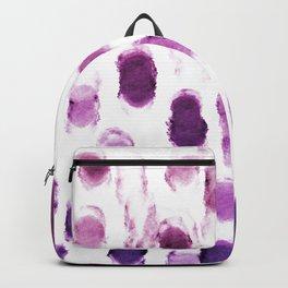 Purple Watercolor Brush Strokes Pattern Backpack