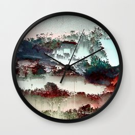 Untitled tree scene Wall Clock
