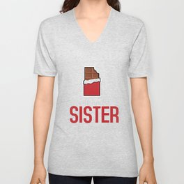 Chocolate lover Sweeth tooth Funny Gift Unisex V-Neck