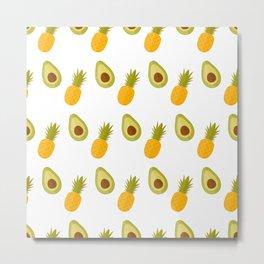 Avocados and pineapples Metal Print