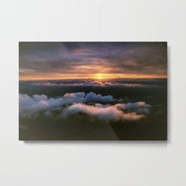 sun behind italy Metal Print