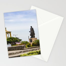 Statue of Cordoba by Lake Nicaragua in Granada Stationery Cards